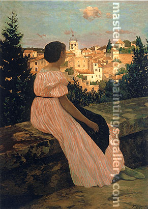 Frederic Bazille, The Pink Dress, 1864, oil on canvas, 32 x 23.9 in. / 81.3 x 60.8 cm, US$265