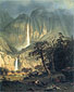 Albert Bierstadt, Cho-looks, The Yosemite Fall, 1864, oil on canvas, 34.5 x 27.3 in. / 87.6 x 68.9 cm, US$400