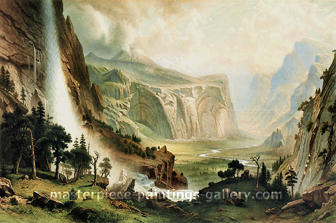 Albert Bierstadt, The Domes of the Yosemite, 1870, oil on canvas, 22.2 x 33.1 in. / 56.5 x 84.5 cm, US$470