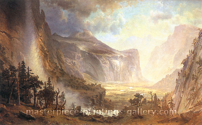 "Albert Bierstadt, Study for ""The Domes of the Yosemite,"", 1863, oil on canvas, 26 x 20 in. / 66 x 50.8 cm, US$330"