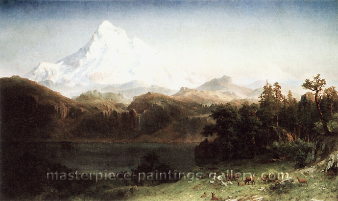 Albert Bierstadt, Mount Hood, Oregon, 1865, oil on canvas, 36 x 60 in. / 91.6 x 152.4 cm, US$720