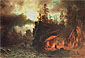 Albert Bierstadt, The Trappers' Camp, 1861, oil on canvas, 19.5 x 28.5 in. / 49.5 x 72.5 cm, US$360