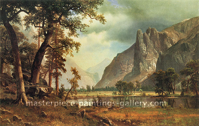 Albert Bierstadt, Yosemite Valley, 1866, oil on canvas, 38 x 60 in. / 96.5 x 152.4 cm, US$840