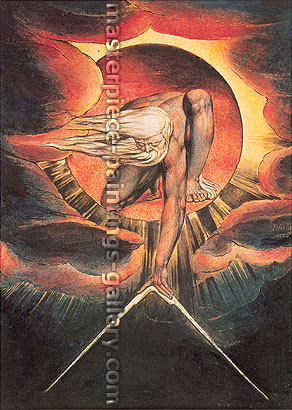 William Blake, The Ancient of Days, 1824, oil on canvas, 32 x 23.7 in. / 81.3 x 60 cm, US$360