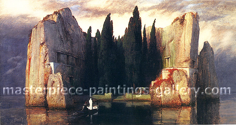 Arnold Bocklin, The Isle of the Dead, 1883, oil on canvas, 20 x 37.5 in. / 50.8 x 95.3 cm, US$310