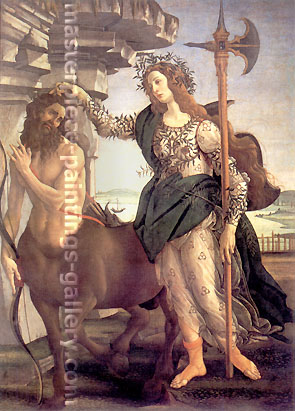 Sandro Botticelli, Pallas and The Centaur, 1482, oil on canvas, 32 x 24 in. / 81.3 x 61 cm, US$420