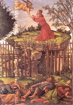 Sandro Botticelli, The Agony in The Garden | Christ on the Mount of Olives, 1500, oil on canvas, 32 x 24 in. / 81.3 x 61 cm, US$480