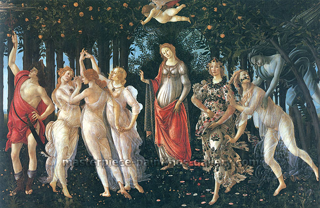 Sandro Botticelli, Primavera | La Primavera | The Allegory of Spring, 1478, oil on canvas, 79.9 x 123.6 in. / 203 x 314 cm, US$650