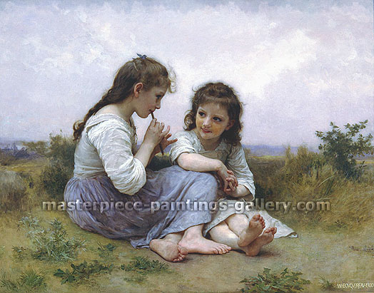 Adolphe-William Bouguereau, Childhood Idyll, 1900, oil on canvas, 39.1 x 50.3 in. / 99.4 x 127.8 cm, US$899