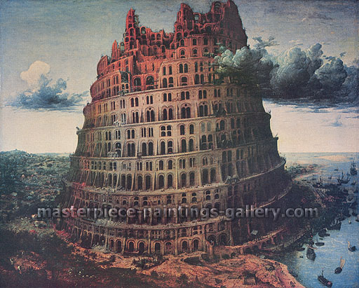 Pieter Bruegel, The Tower of Babel | The Small Tower of Babel, 1564, oil on canvas, 25.6 x 29.4 in. / 60 x 74.6 cm, US$420