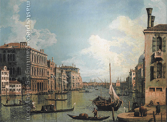 Giovanni Antonio Canaletto | Giovanni Antonio Canal, Grand Canal Near the Campo San Vio, looking towards the Church of Santa Maria della Salute, 1730, oil on canvas, 19.7 x 27.6 in. / 50 x 70 cm, US$500