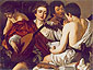 Michelangelo Merisi da Caravaggio, The Concert, 1595, oil on canvas, 36.2 x 46.7 in. / 92 x 118.5 cm, US$470