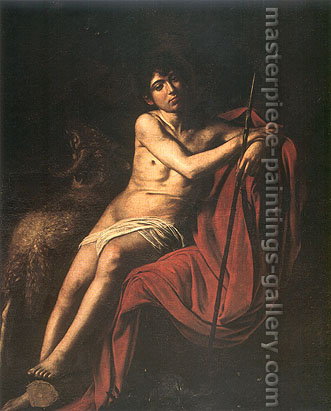 Michelangelo Merisi da Caravaggio, St. John the Baptist, 1601, oil on canvas, 62.6 x 48.8 in. / 159 x 124 cm, US$630