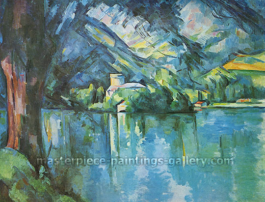Paul Cezanne, Lake Annecy | Lac d'Annecy, 1896, oil on canvas, 25.2 x 31.1 in. / 64 x 79 cm, US$280
