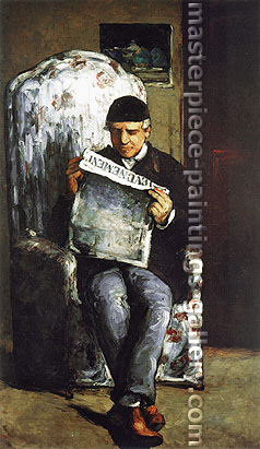 Paul Cezanne, Louis-Auguste Cezanne, the Artist's Father, Reading 'L'Evenement', 1866, oil on canvas, 39.4 x 23.6 in. / 100 x 60 cm, US$320