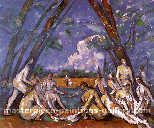 Paul Cézanne, (Sixteen) Large Bathers, 1898, oil on canvas, 26.7 x 32 in. / 67.9 x 81.3 cm, US$265