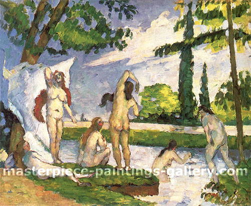 Paul Cézanne, The Bathers, 1875, oil on canvas, 23.2 x 28 in. / 58.9 x 71.1 cm, US$280
