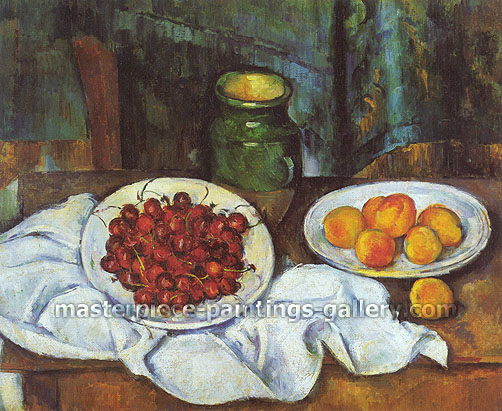Paul Cezanne, Cherries and Peaches | Cerises et Peches, 1883-87, oil on canvas, 19.7 x 24 in. / 50 x 61 cm, US$270