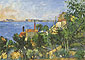 Paul Cezanne, The Sea at L'Estaque | La mer a l'estaque, 1876, oil on canvas, 21.5 x 30.2 in. / 54.6 x 76.7 cm, US$310
