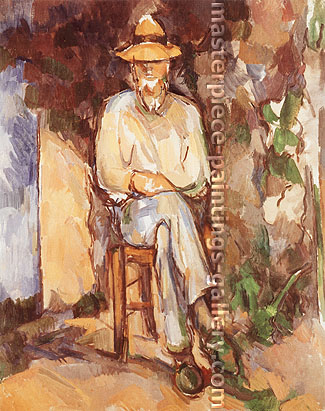 Paul Cézanne, The Gardener | Le Jardinier, 1900, oil on canvas, 24.8 x 20.5 in. / 63 x 52 cm, US$265