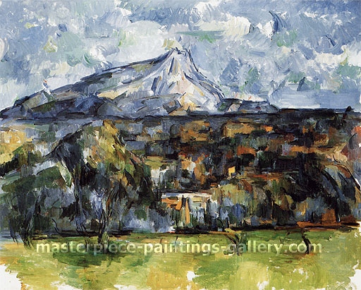 Paul Cézanne, Mont Saint-Victoire seen from Les Lauves, 1906, oil on canvas, 29.1 x 32.1 in. / 73.8 x 81.5 cm, US$290