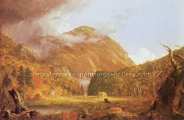 Thomas Cole, The Notch of the White Mountains | Crawford Notch, 1839, oil on canvas, 18.2 x 28 in. / 46.3 x 71.1 cm, US$575