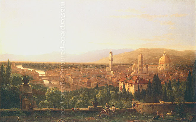 Thomas Cole, View of Florence from San Miniato, 1837, oil on canvas, 39 x 63.1 in. / 99.1 x 160.3 cm, US$1,250