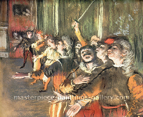 Edgar Degas, The Chorus, 1877, oil on canvas, 21.3 x 25.2 in. / 54 x 64 cm, US$320
