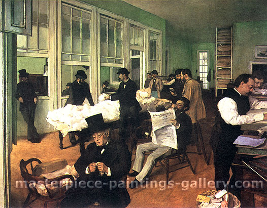 Edgar Degas, The Cotton Office, New Orleans, 1873, oil on canvas, 25.2 x 31.8 in. / 64 x 80.7 cm, US$360