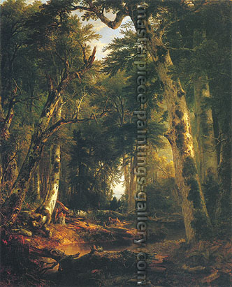 Asher B. Durand, In the Woods, 1855, oil on canvas, 48 x 37.9 in. / 121.9 x 96.3 cm, US$710