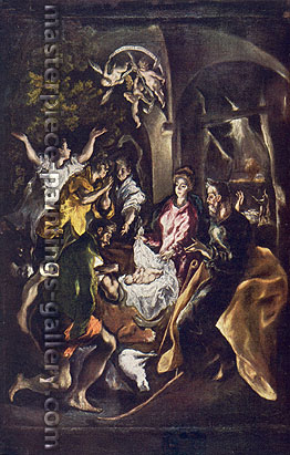 El Greco, The Adoration of the Shepherds, 1612, oil on canvas, 38 x 24.9 in. / 96.5 x 63.2 cm, US$400