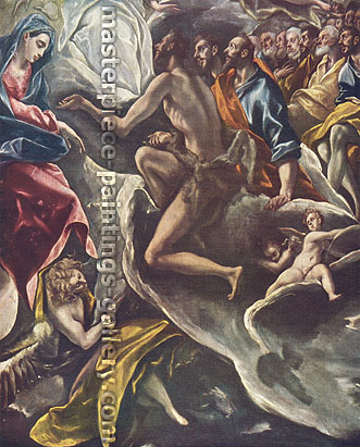 El Greco, The Burial of Count Orgaz (Detail 1), 1586, oil on canvas, 32 x 25.8 in. / 81.3 x 65.5 cm, US$365