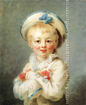 Jean Honore Fragonard, A Boy as Pierrot, 1770-80, oil on canvas, 24 x 20 in. / 61 x 51 cm, US$300