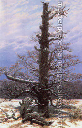 Caspar David Friedrich, Oak Tree in the Snow, 1829, oil on canvas, 15.7 x 10.2 in. / 40 x 26 cm, US$330