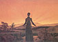 Caspar David Friedrich, Woman in the Setting Sun, 1818, oil on canvas, 16.5 x 23.2 in. / 42 x 58.9 cm, US$250