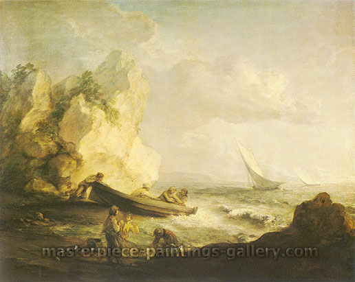 Thomas Gainsborough, Seascape, 1781, oil on canvas, 20.1 x 25.2 in. / 51.12 x 64 cm, US$280