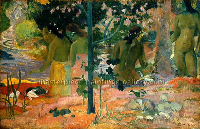 Paul Gauguin, The Bathers, 1897, oil on canvas, 23.8 x 36.8 in. / 60.3 x 93.3 cm, US$370