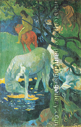 Paul Gauguin, The White Horse, 1898, oil on canvas, 55.5 x 35.8 in. / 141 x 91 cm, US$640