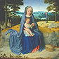 Gerard David, The Rest on the Flight into Egypt, 1510, oil on canvas, 16.5 x 16.6 in. / 41.9 x 42.2 cm, US$300