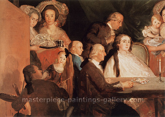 Francisco de Goya, The Family of the Infunte Don Luis de Borbon, 1784, oil on canvas, 48.8 x 65 in. / 124 x 165 cm, US$660