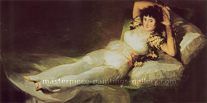 Francisco de Goya, The Maya Clothed, 1798-1800, oil on canvas, 37.4 x 74.8 in. / 95 x 190 cm, US$760