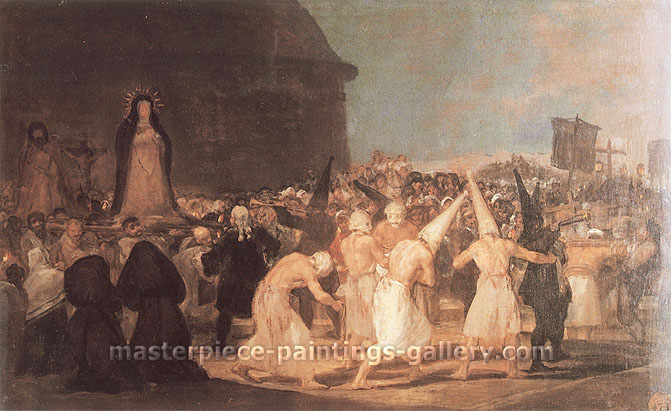 Francisco de Goya, The Procession of the Flagellants, 1815-20, oil on canvas, 18.1 x 28.7 in. / 46 x 73 cm, US$300.