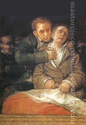 Francisco de Goya, Self-Portrait with Doctor Arrieta, 1820, oil on canvas, 46.1 x 31.1 in. / 117 x 79 cm, US$470