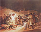 Francisco de Goya, The Third of May, 1808-14, oil on canvas, 45.6 x 59.1 in. / 115.8 x 150.1 cm, US$600