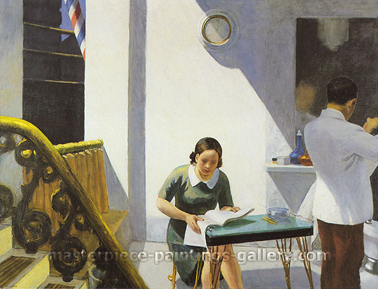 Edward Hopper, The Barbershop, 1931, oil on canvas, 24.6 x 32 in. / 62.5 x 81.3 cm, US$325
