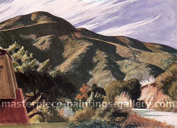 California Hills, 1957, oil on canvas, 21.5 x 29.3 in / 54.6 x 74.3 cm US$245