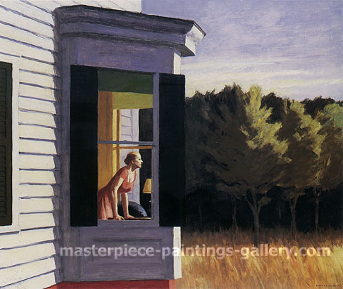 Edward Hopper, Cape Cod Morning, 1950, oil on canvas, 34 x 40 in / 86.4 x 101.6 cm, US$300