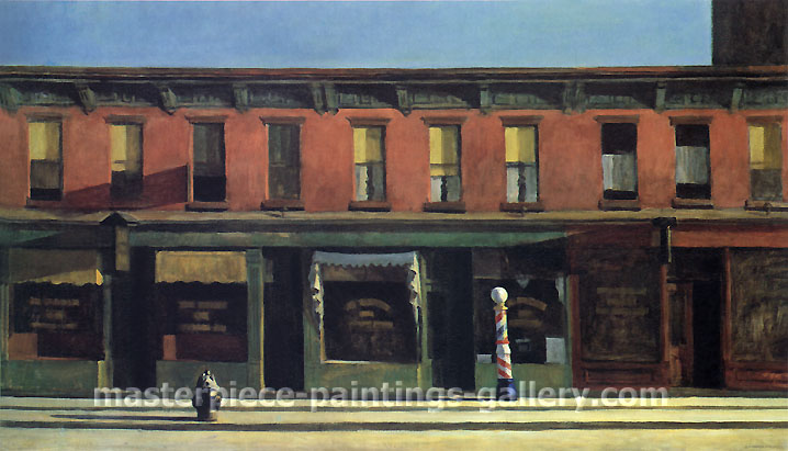 Edward Hopper, Early Sunday Morning, 1930, oil on canvas, 35 x 60 in. / 88.9 x 152.4 cm, US$550