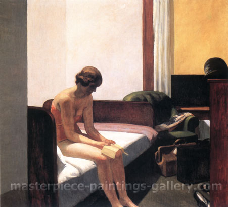 Edward Hopper, Hotel Room, 1931, oil on canvas, 29.4 x 32 in. / 74.8 x 81.3 cm, US$330
