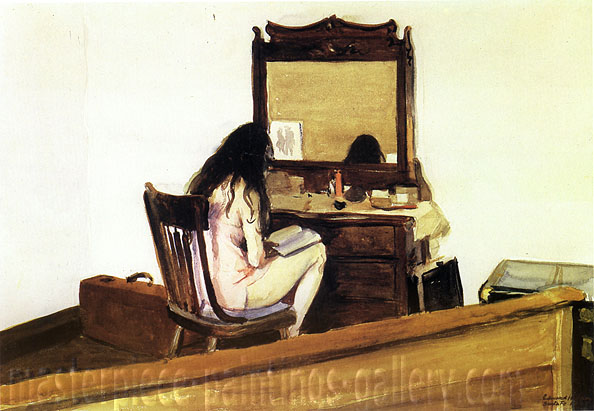 Edward Hopper, Interior (Model reading), 1925, oil on canvas, 13.9 x 20 in / 35.3 x 50.6 cm, US$300